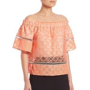 Jonathan Simkhai Off the Shoulder Neon Top